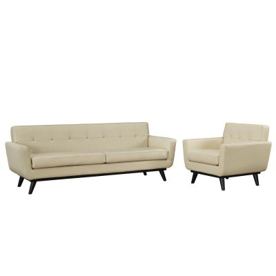 Spiers 2 Piece Leather Living Room Set - EEI-1766
