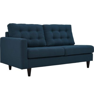 Prince Left-Facing Upholstered Fabric Loveseat
