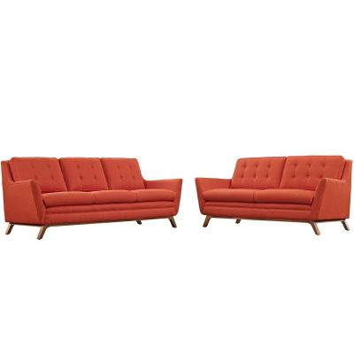 Beguile Living Room Set Upholstered Fabric Set Of 2 - EEI-2434