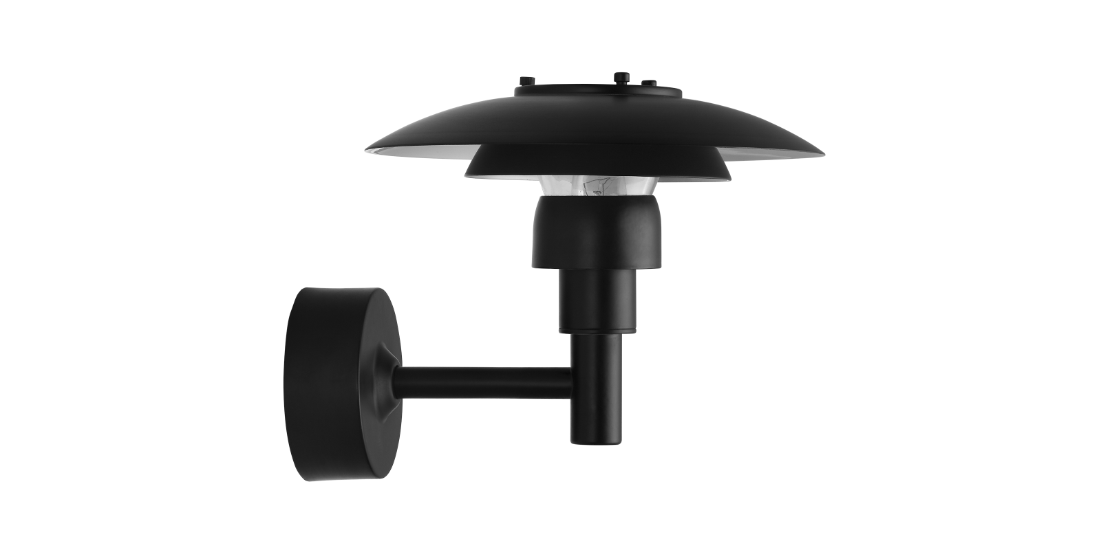 Beautify Your Home with Black Colored Metal PH 3-2½ Wall Lamp