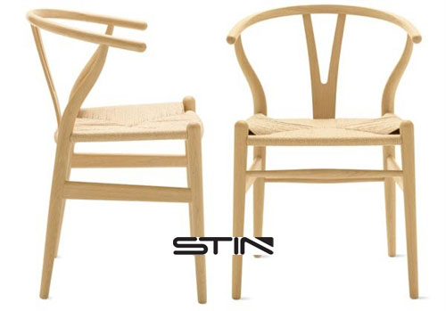 Hans Wegner inspired chair with hand weaved comfortable seat for ultimate comfort